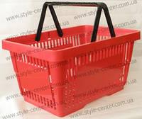 Корзина покупательская, 430х300х225 мм, красная, корзина для супермаркета, корзина для покупателя, пластиковая