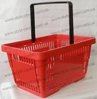 Корзина покупательская 430х300х225 мм, красная