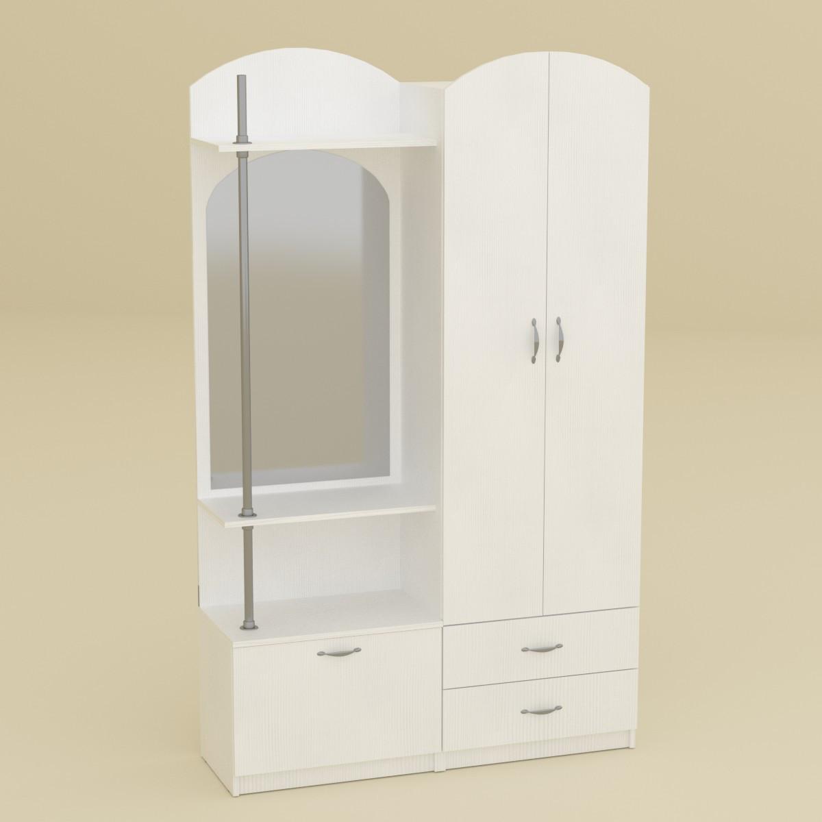 Прихожая Валентина нимфея альба (белый) Компанит (120х38х200 см)