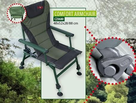 Рыбацкое кресло с подлокотниками Сarp Zoom