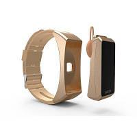 Смарт часы Bluetooth гарнитура JAKCOMBER B3 8в1 (ГОЛД) Стильно смотрятся, превращается в блютуз гарнитуру