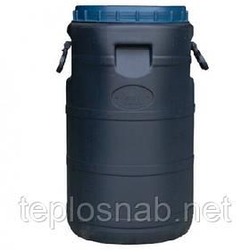 Бочка пластиковая техническая 50 литров черная широкое горло