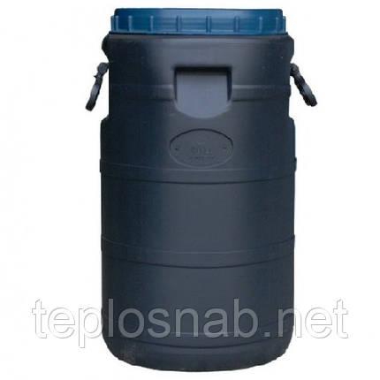 Бочка пластиковая техническая 50 литров черная широкое горло, фото 2