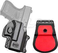 Кобура Fobus для Glock 26,27,28,33 с поясным фиксатором черная