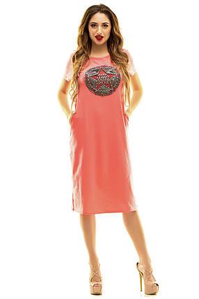 Платье 408 коралл, фото 2