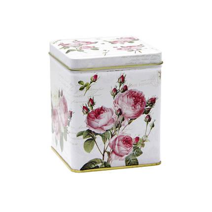 Металлический контейнер для сыпучих Романтическая роза, 100г ( банка с крышкой ), фото 2