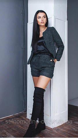 Женский костюм шорты+пиджак