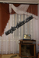 Ламбрекен из шифона на 2 метра для спальни