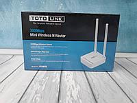Маршрутизатор TotoLink mini на 2 антенны