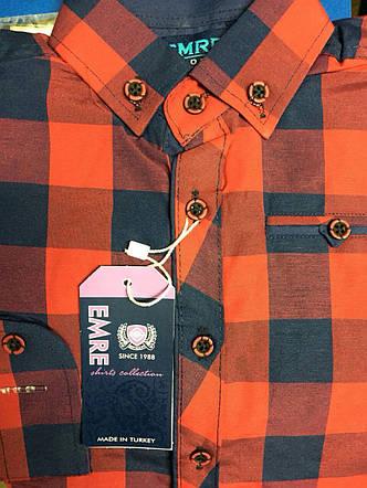 Рубашка подростковая на мальчиков 6-9, 9-12 летв клетку, фото 2