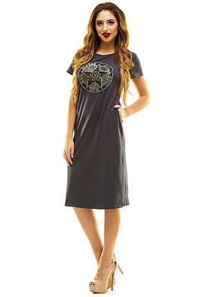 Платье 408 темно-серое, фото 2