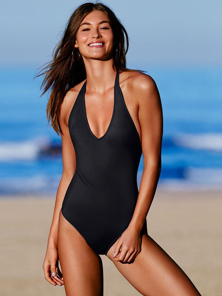 Сдельный купальник Victoria's Secret чёрный