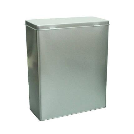 Металлический контейнер (технологический) Серебро, 1250г ( банка для сыпучих ), фото 2