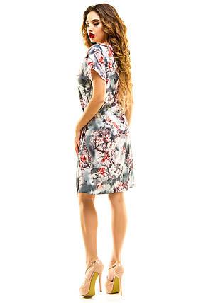 Платье 413 с кулиской серое, фото 2