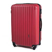 Ударопрочный чемодан пластиковый из поликарбоната большой 100 л красный  WS1102-51 b05e233eba0