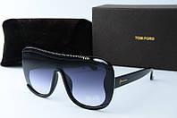 Солнцезащитные очки квадратные Tоm Ford черные, фото 1