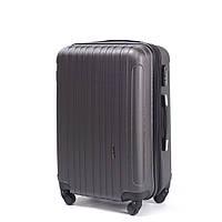 1c7e0ac9b374 Ударопрочный чемодан пластиковый из поликарбоната большой 100 л графитовый  WS1102-81