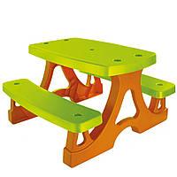 Детский столик для пикника MOCHTOYS большой со скамейками (детская мебель)