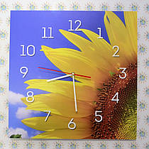 Квадратные часы Подсолнух