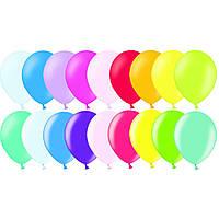 """Воздушные шары 9"""" пастель ассорти 50 шт Belbal (Бельгия)"""