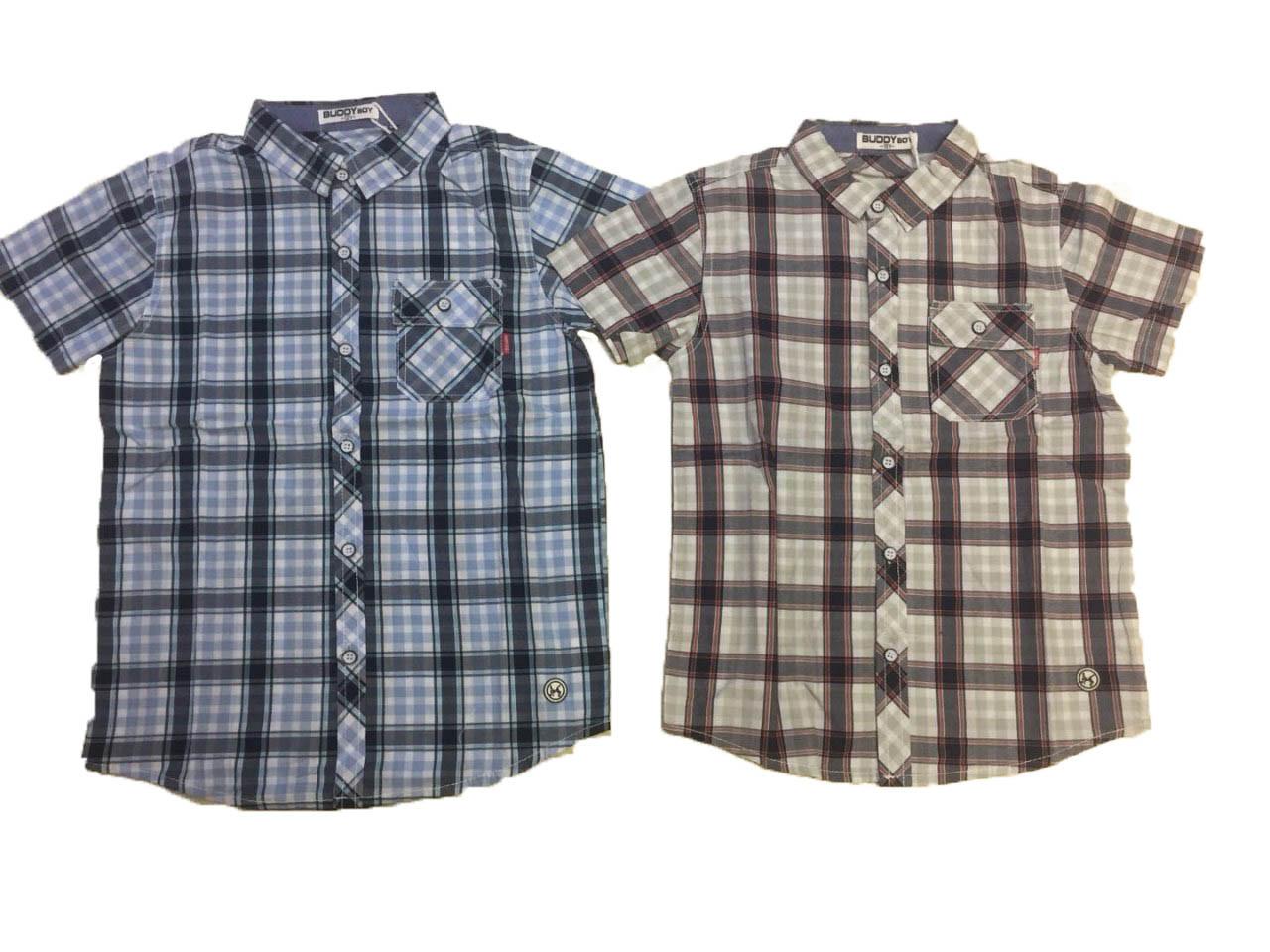 Рубашка для мальчика опт, Buddy Boy, размеры 6-16 лет, арт. 5566