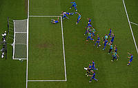 Сетка для футбола повышенной прочности «ЛЮКС 1,5» белая (комплект 2 шт.), фото 1