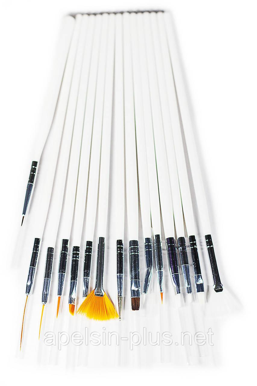 Набор кондитерских кистей для росписи пряников 15 штук