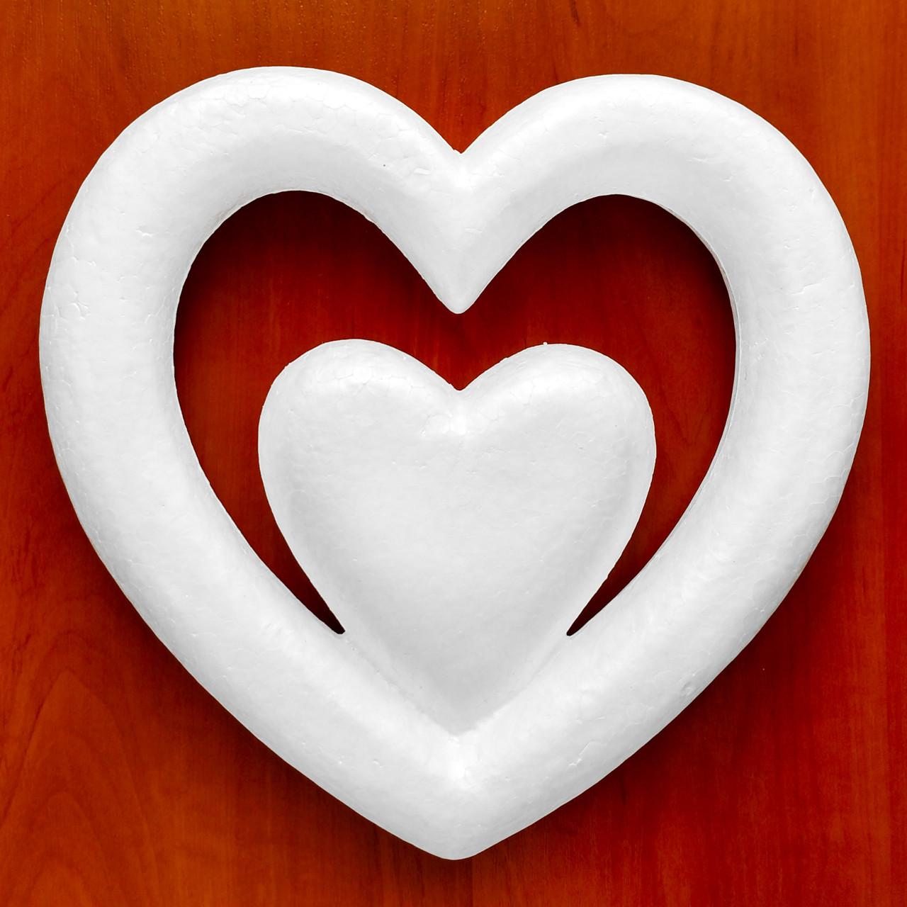 Сердце из пенопласта 25 см