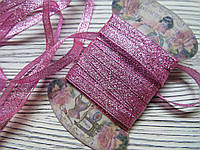 Лента люрикс 0,7см Розовая 5м, фото 1