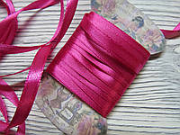 Лента атласная 0,7см Розовая 5м, фото 1