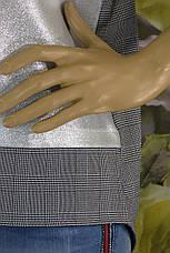 кофта в клітинку з срібним напиленням Mari Time, фото 3