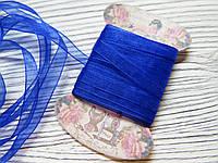 Лента органза 0,7см Синяя 5м, фото 1