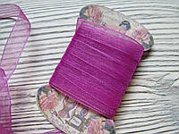 Лента органза 1см Розовая 5м, фото 1