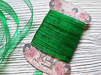 Лента органза 0,7см Зеленая 5м