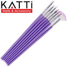 KATTi Кисть для рисования Набор 7шт фиолетовые разные