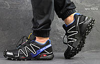 Кроссовки Salomon Speedcross 3 чорні з білим (Реплика)