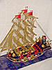 """Корабль из конфет """"Красный капитан"""""""