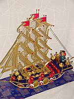 """Корабль из конфет """"Красный капитан"""", фото 1"""