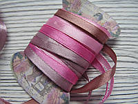 Лента атласная 0,7см Микс Розовая пастель 4шт*2м, фото 1