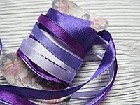 Лента атласная 0,7см Микс Фиолетовый (2) 4шт*2м, фото 1