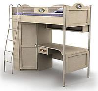 Кровать+стол+шкаф An-16-3 Angel береза