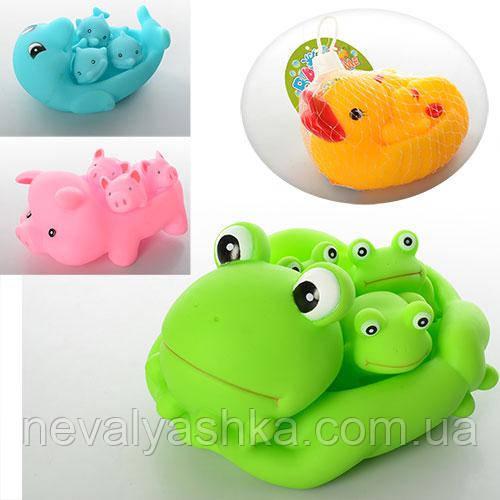 Животные резиновые для ванной, ZT8891-2-3-4, 007718