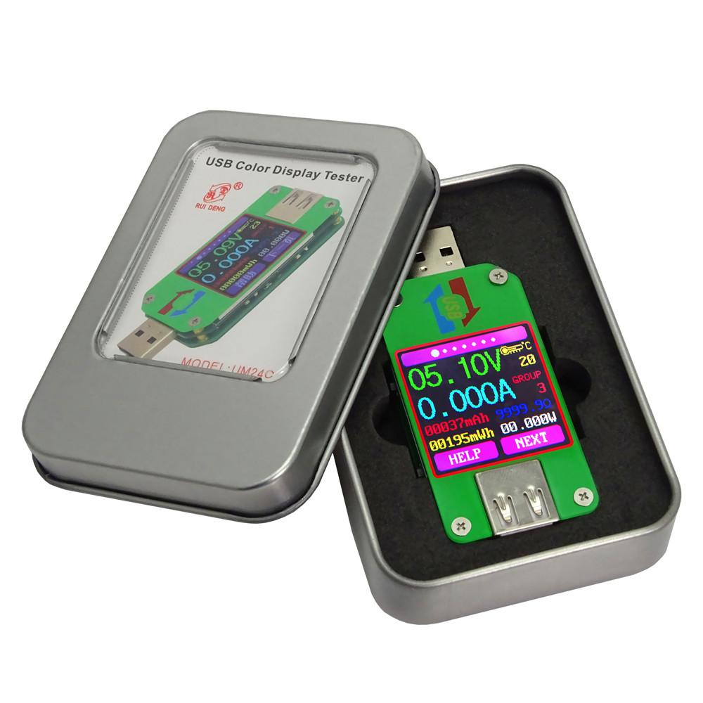 Тестер USB UM24C фирмы RuiDeng с Bluetooth подключением к ПК