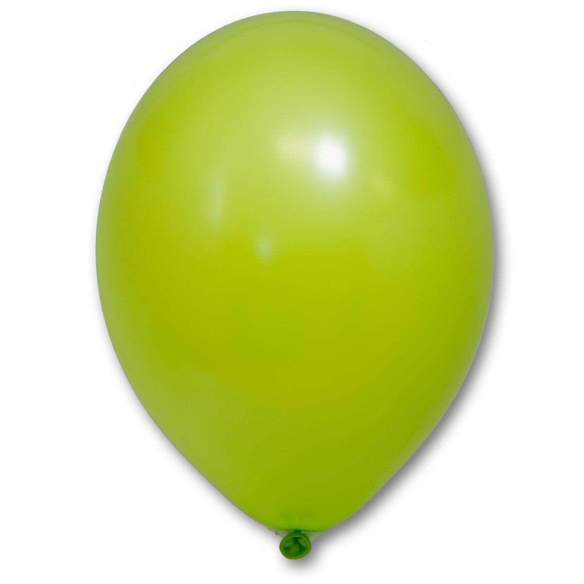 """Воздушные шары 10,5"""" пастель зелёное яблоко 50 шт Belbal (Бельгия)"""