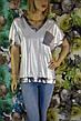 Женская футболка больших размеров люрекс серебро, фото 4