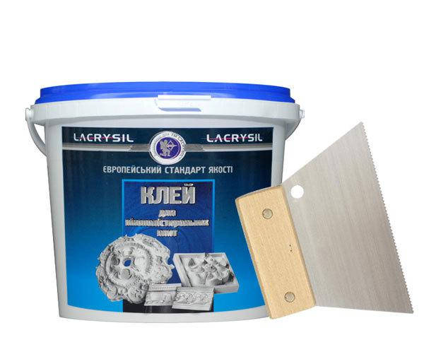 Клей для изделий из пенополистерола, белый LACRYSIL,  8,0 кг