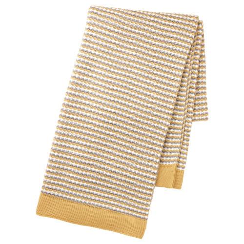 ОРМХАССЕЛЬ Плед, желтый/серый, 120x180 см 60328820 IKEA, ИКЕА, ORMHASSEL