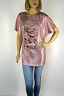 жіноча футболка великого розміру з люрексом і стразами