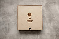 Подарочная коробка из фанеры для упаковки товара, фото 1