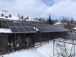 Кривой Рог солнечная электростанция сетевая под зеленый тариф 12,5 кВт Huawei, Днепр обл.